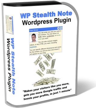 George Katsoudas' WP Stealth Note WordPress Plugin