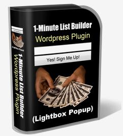 1-Minute List Builder WordPress Plugin