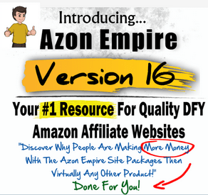 Azon Empire 16 – Quality Done-For-You Amazon Affiliate Websites