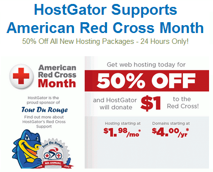 HostGator Red Cross Promo