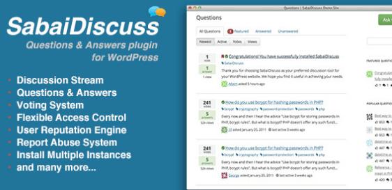 Sabai Discuss Q&A WordPress Plugin
