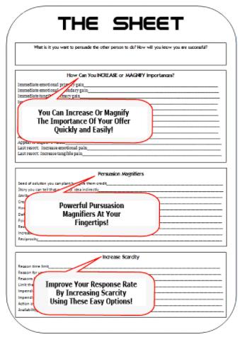 Sheet Persuasion System